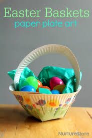 pre made easter baskets for babies paper plate easter basket craft paper plate crafts easter