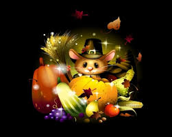 thanksgiving day mouse 3d and cg abstract background