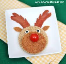 cute food for kids christmas breakfast idea sandwich reindeer