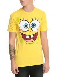 spongebob squarepants big face t shirt topic