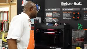 home depot teams with makerbot to offer 3d printers online and in