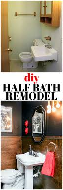 bathroom decor ideas on a budget diy half bath remodel