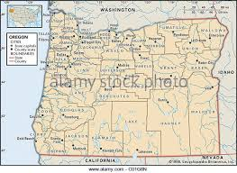 map of oregon showing madras map of oregon stock photos map of oregon stock images alamy