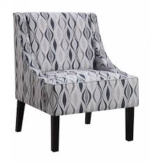 Blue And White Striped Slipcovers Chairs Black Wooden Chair Using Brown Upholstered Striped Back