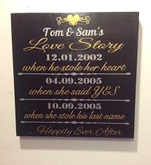wedding gift anniversary important date custom wood sign personalized