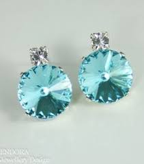 turquoise bridal earrings stud earrings stud earrings turquoise earrings swarovski