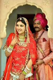 and jewelry rajasthani and groom indian wearing bridal lehenga and