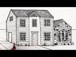 Drawing Of A House With Garage How To Draw A House In One Point Perspective Youtube