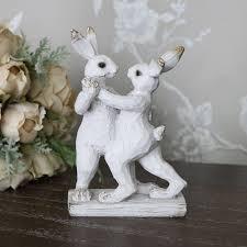 bunny rabbits ornament melody maison