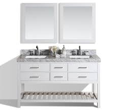 Black Bathroom Vanity With White Marble Top by 60