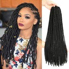 extension braids 18 dreadlock faux locs braid hair crochet braids black synthetic
