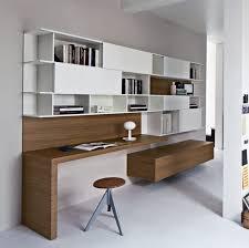 meuble tv avec bureau bureau contemporain en bois avec étagère alterno