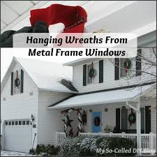 my so called diy hanging wreaths from metal frame windows