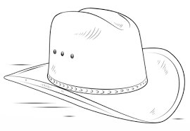 cowboy hat coloring free printable coloring pages