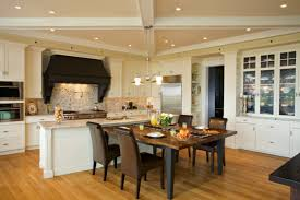 open floor plan kitchen ideas kitchen captivating open plan kitchen design with brown dining