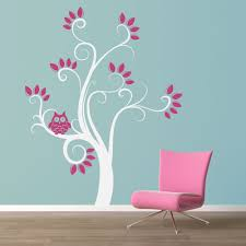 Owl Wall Decals Nursery by Swirly Owl Tree Wall Decal