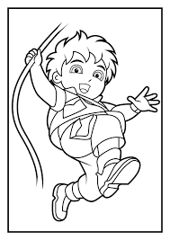 go diego go pictures to color coloring page