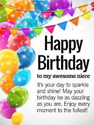 to a fabulous niece happy birthday wishes card birthday
