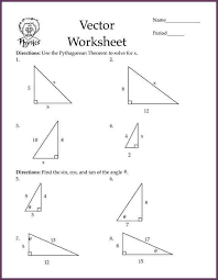 pythagorean theorem worksheet amazing calculate the hypotenuse