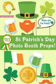 st patrick u0027s day photo booth props free printable press print