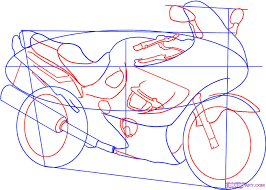 draw a sport bike 2006 suzuki katana 600 step by step drawing