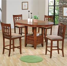 counter high dining room sets crown mark empire counter height dining table and chair set with