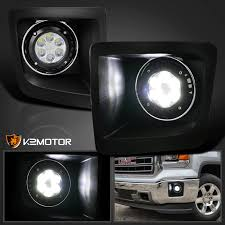led lights for 2014 gmc sierra 2014 2016 gmc sierra 1500 clear led bumper fog lights driving ls