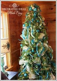 What Trees Are Christmas Trees - christmas trees decorated with mesh teal and white deco mesh