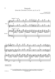 pastorale from the christmas concerto op 6 no 8 sheet music