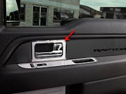 F150 Raptor Interior Ford F150 Raptor Door Handle Pull Plates 4pc Brushed 2010 2014