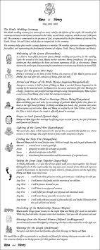 wedding program ceremony hindu wedding program book wordings wedding ceremony program