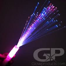 fiber optic wands with multi color lights glowproducts