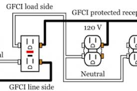 gfi wiring diagram u0026 gfci outlet and switch wiring