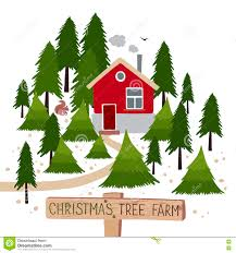 christmas tree farm vector illustration stock vector image