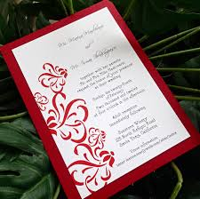 red and white wedding invitation modern wedding invitations