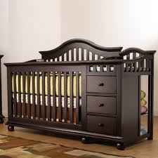 4 In 1 Convertible Crib With Changing Table Sorelle Newport 2 In 1 Crib Changer Combo Merlot Walmart