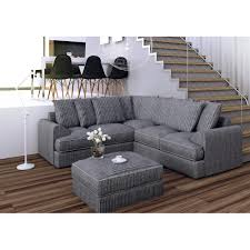 Living Room With Grey Corner Sofa Fabric Corner Sofa In Soft Grey Jumbo Cord Fabric With Piping