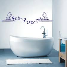 online get cheap small bathroom decor aliexpress com alibaba group free shipping rub a dub dub bathroom wall art sticker quotes small little bear wall decals
