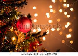 fir branch balls festive lights on stock photo 540186541