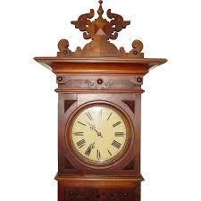 german signed furtwangler tall case grandfather clock 19th