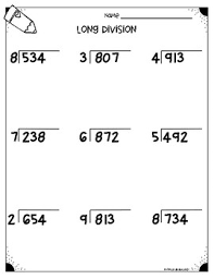 long division worksheets 4 nbt b6 u0026 5 nbt b6 by monica abarca tpt