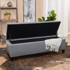 grey leather storage ottoman skyler grey leather storage ottoman bench gdf studio