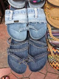 Upcycle Crafts - upcycle your old jeans into cute flipflops no usable link just a