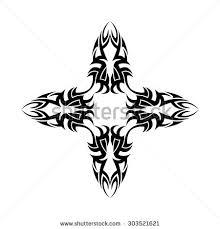tribal cross designs vector sketch stock vector 303521621