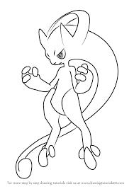 learn draw mega mewtwo pokemon pokemon step
