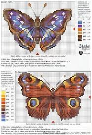 butterfly cross stitch and chart cross stitch butterfly