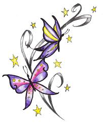 10 best butterfly star tattoo designs images on pinterest star