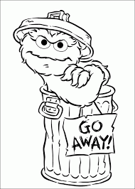 animations 2 coloring pages oscar grouch sesame street
