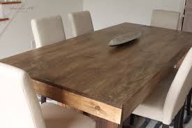 Modern Wood Kitchen Tables West Elm Inspired Solid Wood Dining Table For 150 U2013 Studio 36