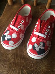 Minnie Mouse Clothes For Toddlers Toddler Minnie Mouse Vans By Brittbratscreations On Etsy Https